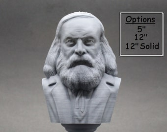 Dmitri Mendeleev Famous Russian Chemist and Inventor 3D Printed Bust