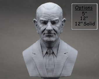Lyndon B. Johnson LBJ USA President #36 5 inch 3D Printed Bust