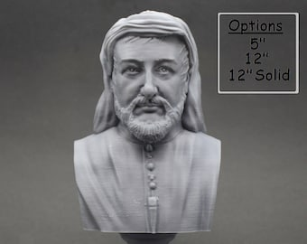 Geoffrey Chaucer Famous English Poet and Author 3D Printed Bust