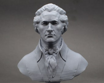 Alexander Hamilton Founding Father  5 inch 3D Printed Bust