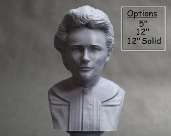 Marie Curie Polish Chemist, Nobel Prize Winner, and Researcher of Radioactivity 3D Printed Bust