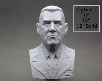 "R. Lee Ermey USMC Retired ""The Gunny"" 3D Printed Bust"