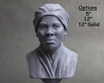 Harriet Tubman American Abolitionist and Political Activist 3D Printed Bust
