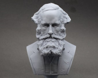 James Clerk Maxwell Famous Scottish Scientist Mathematical Physics 5 inch 3D Printed Bust