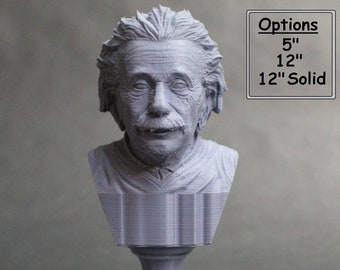 Albert Einstein Famous German Physicist and Mathematician 3D Printed Bust