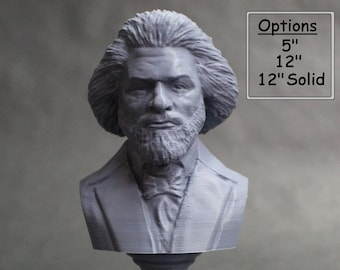 Frederick Douglass American Social Reformer, Abolitionist, Orator, Writer, and Statesman 3D Printed Bust