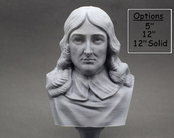 John Milton Famous English Poet and Intellectual 3D Printed Bust