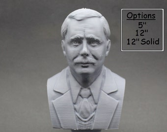 H.G. Wells English Writer 3D Printed Bust
