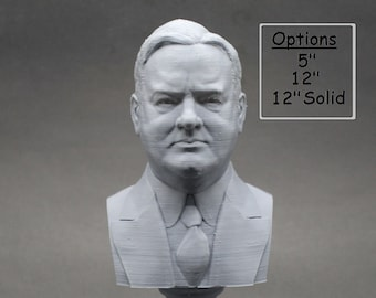 Herbert Hoover USA President #31 5 inch 3D Printed Bust