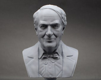 Thomas Edison Famous American Inventor and Businessman 5 inch 3D Printed Bust