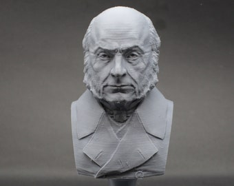 John Quincy Adams USA President #6 5 inch 3D Printed Bust