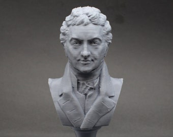 Thomas Young Famous British Physicist, Mathematician, and Mechanical Engineer 5 inch 3D Printed Bust