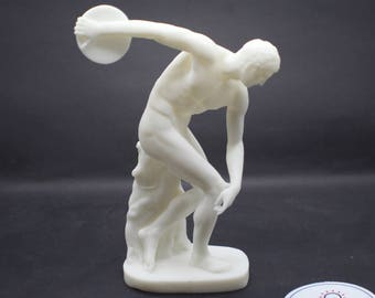 Detailed Discobolus of Myron (The Discus Thrower) Resin 3D Printed Statue from Royal Cast Collection at SMK in Denmark