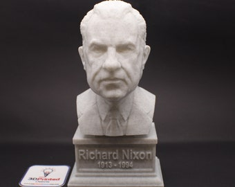 Richard Nixon USA President #37 7 inch 3D Printed Bust