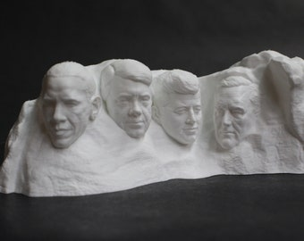 "Custom ""Roll Your Own"" Mount Rushmore 3D Printed Display"