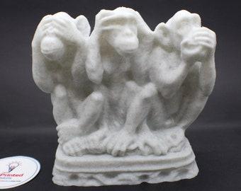 Three Wise Monkeys See No Evil, Hear no Evil, Speak No Evil Statue