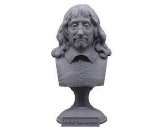 René Descartes French Philosopher, Mathematician, and Scientist 5 inch Bust