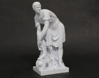 Hermes Fastening His Sandle 3D Printed Statue Replica