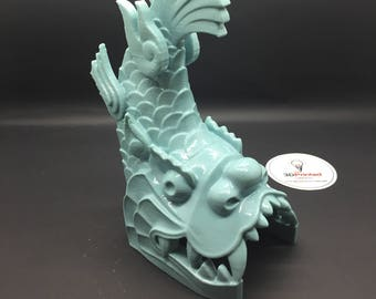 Dragon Feng Shui Fish for Wealth Polished Vinyl Figurine