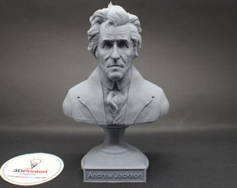 Andrew Jackson USA President #7 5 inch 3D Printed Bust