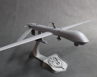 Predator MQ-1 Unmanned Aerial Vehicle (uav, drone, RPA, etc) Model with Stand