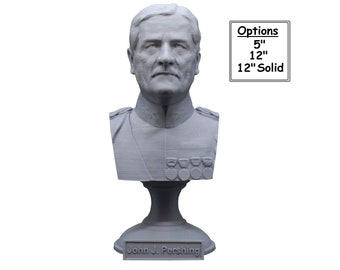 John J. Pershing Legendary US Army General and General of the Armies 3D Printed Bust