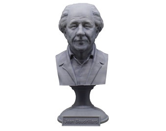 Jean Baudrillard French Sociologist, Philosopher, and Cultural Theorist 5 inch Bust