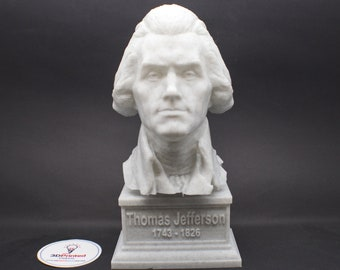 Thomas Jefferson USA President #3 7 inch 3D Printed Bust
