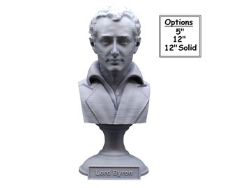George Gordon Byron (Lord Byron) , English Poet, Politician, and Revolutionary 3D Printed Bust