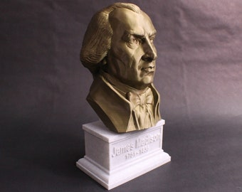 James Madison USA President #4 12 inch 2 color 3D Printed Bust