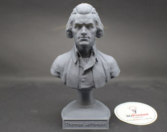 Thomas Jefferson USA President #3 5 inch 3D Printed Bust