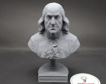 Benjamin Franklin Founding Father  5 inch 3D Printed Bust