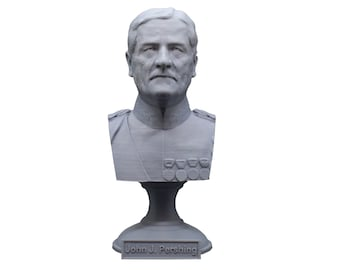 John J. Pershing Legendary US Army General and General of the Armies 5 Inch Bust