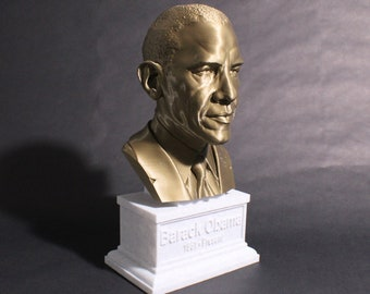 Barack Obama USA President #44 12 inch 2 color 3D Printed Bust