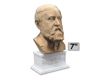 Benjamin Harrison USA President #23 7 inch Bust