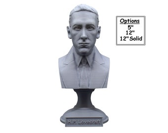H.P. Lovecraft Famous American Writer 3D Printed Bust