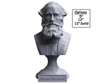 James Clerk Maxwell Famous Scottish Scientist Mathematical Physics 3D Printed Bust