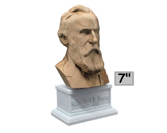 Rutherford B. Hayes USA President #19 7 inch Bust