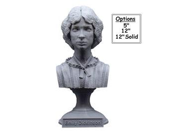 Emily Dickinson American Poet 3D Printed Bust