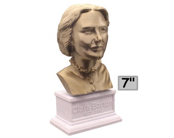 Clara Barton American Nurse and Founder of the Red Cross 7 inch Bust