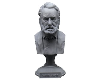Victor Hugo Famous French Poet, Novelist, and Dramatist 5 inch Bust