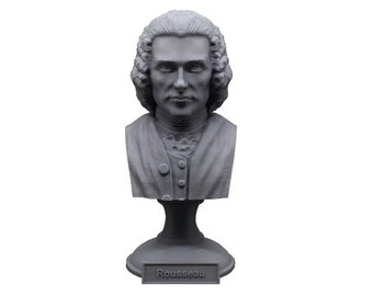 Jean-Jacques Rousseau Enlightenment Philosopher 5 inch Bust