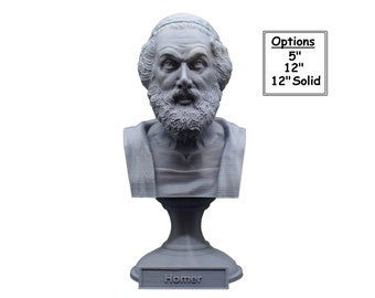 Homer Greek Author of Iliad and The Odyssey 3D Printed Bust
