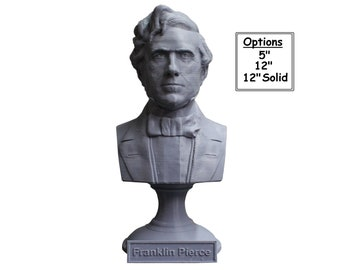 Franklin Pierce USA President #14 5 inch 3D Printed Bust