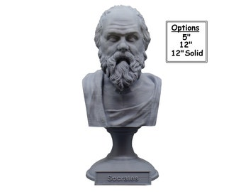 Socrates Greek Philosopher 3D Printed Bust