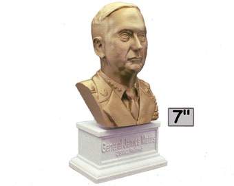 James Mattis USMC General Retired USA SecDef 7 inch 3D Printed Bust