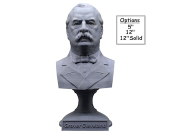 Grover Cleveland USA President #22 5 inch 3D Printed Bust