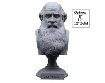 Leo Tolstoy Russian Writer 3D Printed Bust