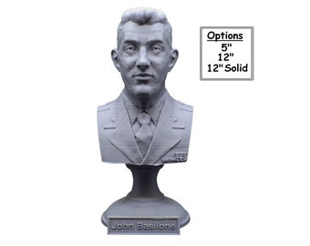 John Basilone US Marine Corps Medal of Honor Winner USMC 3D Printed Bust