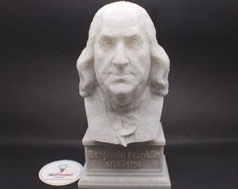 Benjamin Franklin 7 inch 3D Printed Bust